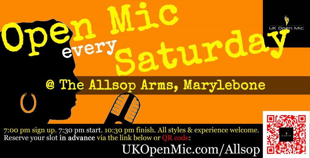 UK Open Mic at The Allsop Arms