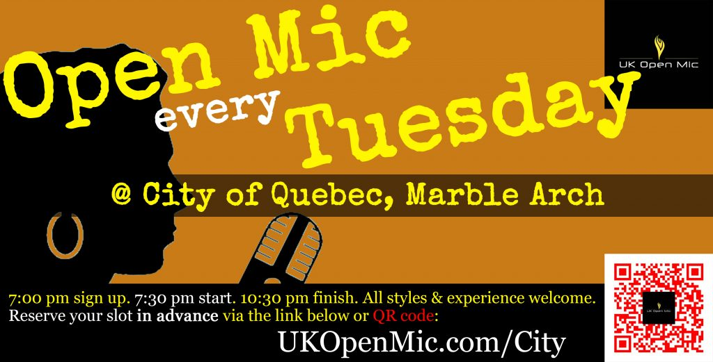 UK Open Mic at The City of Quebec