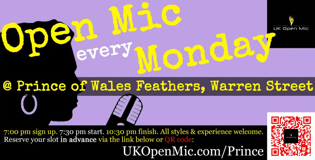 UK Open Mic at The Prince of Wales Feathers